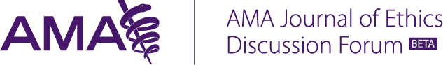 AMA Journal of Ethics discussion forum Logo
